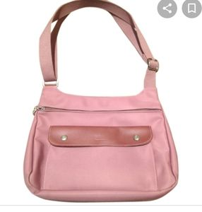 Longchamp planete le pliage pink brown bag